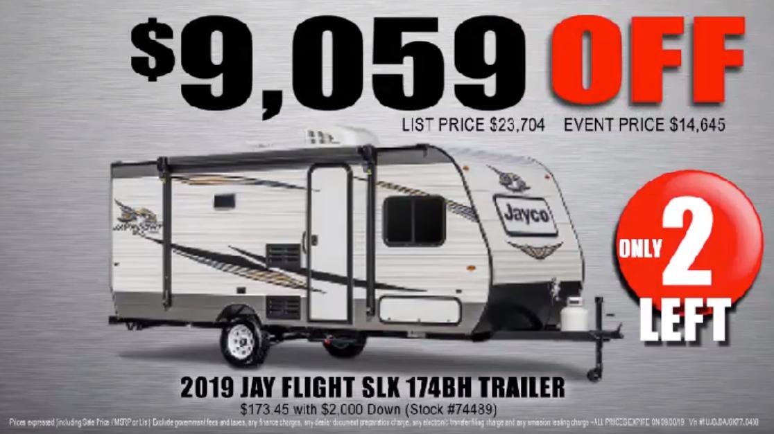 2019 jay flight slk 174BH trailer
